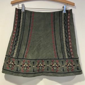 Abercrombie & Fitch Olive Suede Skirt Size 4